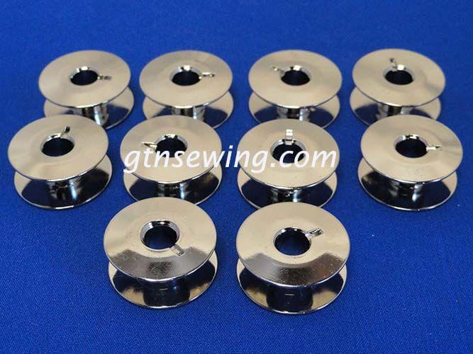 10 BOBBINS, NO 55623, 21mm X 8.5mm WILL FIT, SINGER 20U, BROTHER, JUKI + MORE