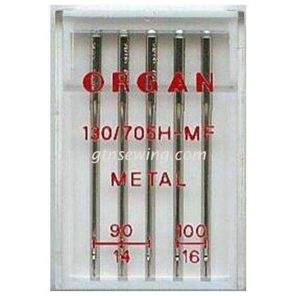 Organ Metal Sewing Needles 130 705H Assorted Sizes 90 & 100 - 5 Needles Per Pack