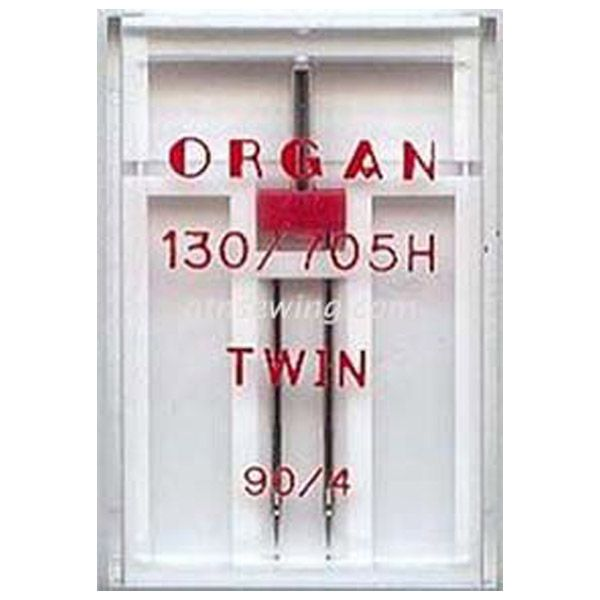 Organ Twin Sewing Needles 130 705H Single Size 90 / 4 mm - 1 Needle Per Pack