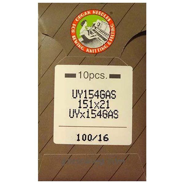 Organ Industrial Overlocking Curved Machine Needles Class 154gas size 100/16
