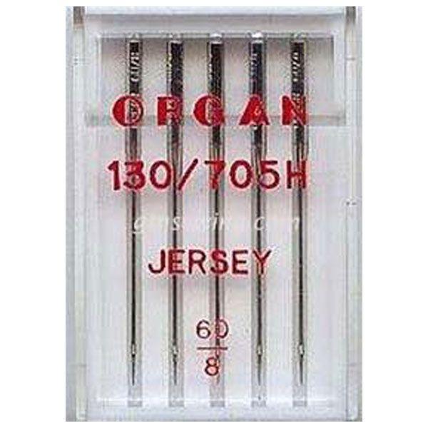 Organ Jersey Sewing Needles 130 705H Single Size 60/8 - 5 Needles Per Pack