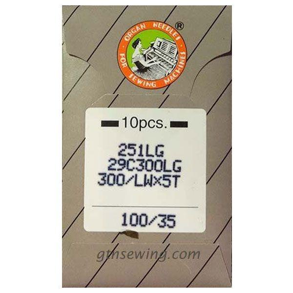 Organ Industrial Blind Stitch Hemming Machine Needles 251LG, LWx5T Size 100/35