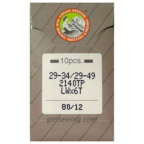 Organ Industrial Blind Stitch Hemming Machine Needles 29-34, LWx6T Size 80/12