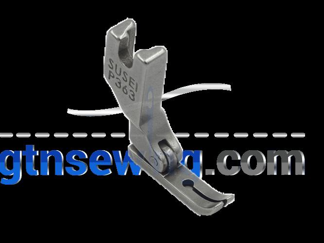 Industrial Sewing Machine Hinged Narrow Zipper Zip Foot