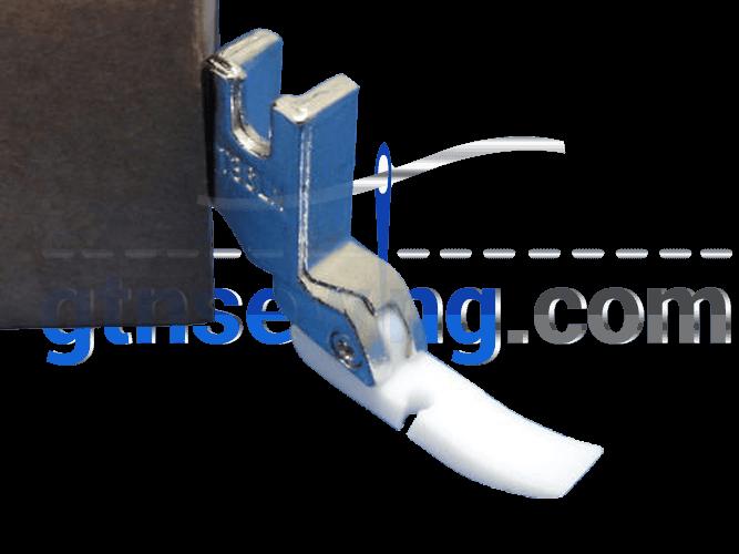 Industrial Sewing Machine Teflon Foot ZIP LEFT SIDE FOOT